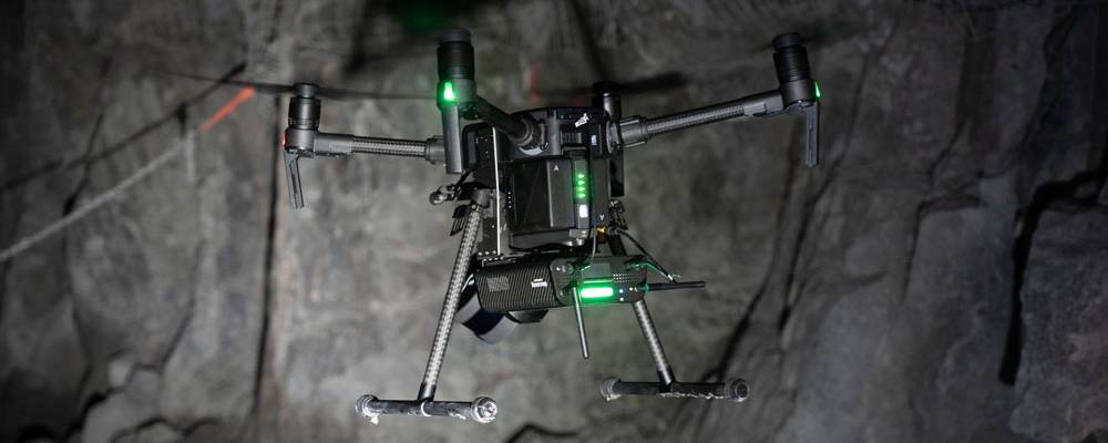 drone in underground mine