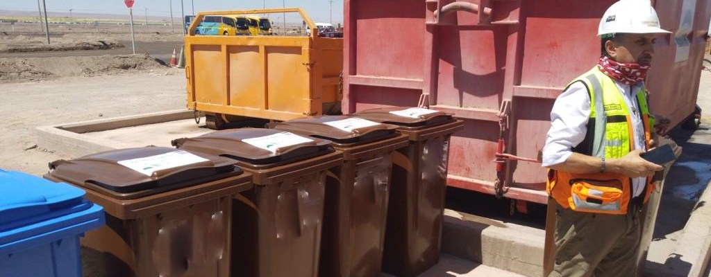 mine site waste area